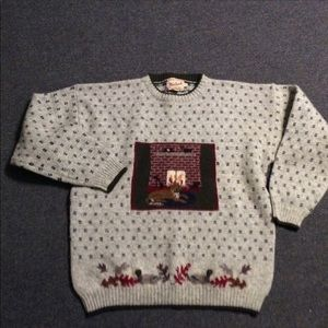 Vintage Woolrich Dog by Fireplace Holiday Sweater